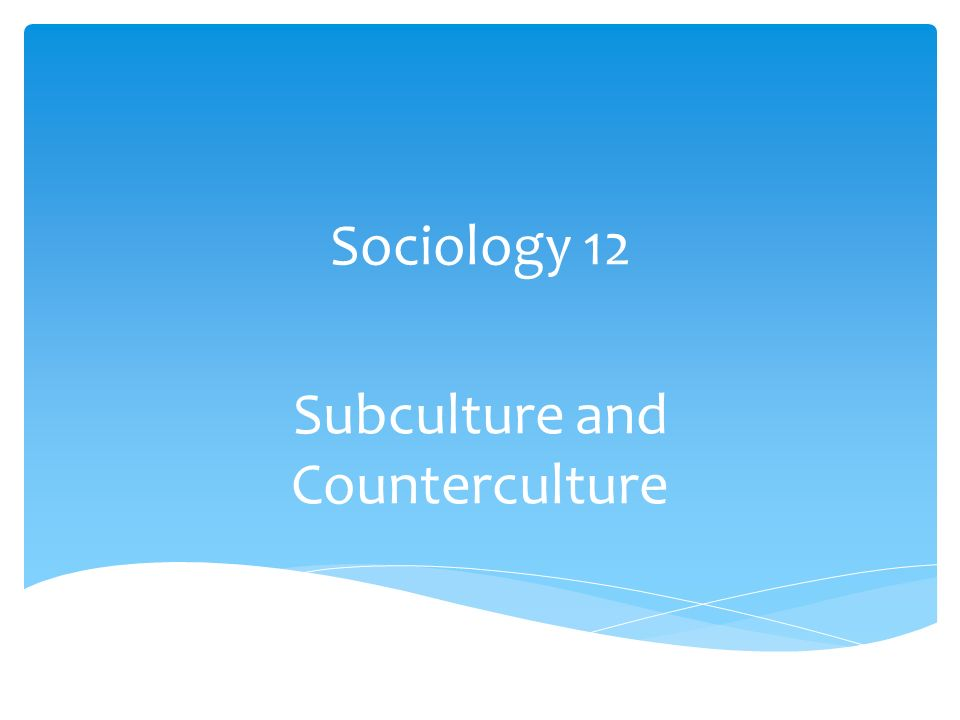 "the definition of subculture and counterculture and the hate towards the subculture of the american  Subculture vs counterculture by definition, a subculture is ""a social group within a aren't we going against the capitalistic ritual of mass."