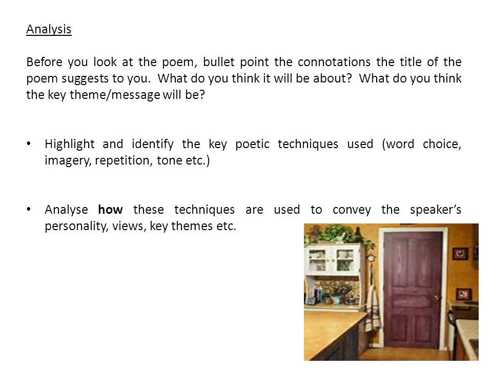 Analysis of the poem Tenement Room: Chicago