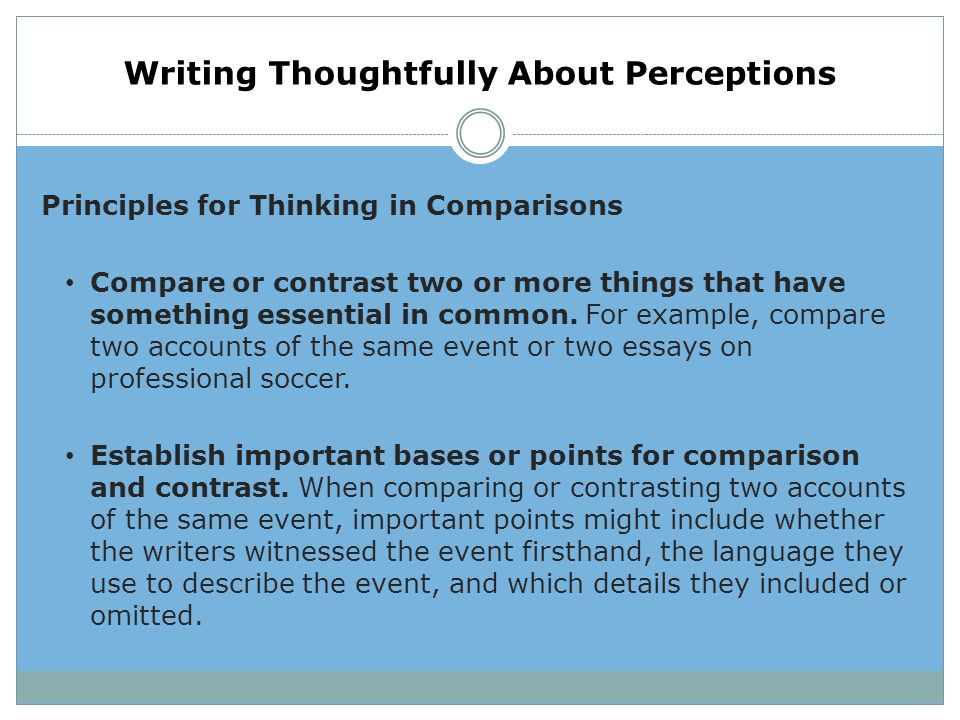"an essay in which you compare and contrast Using both comparison and contrast general guidelines on the style of your essay, or ""how to write a comparative analysis"": if you pursue a tertiary education, you'll be asked many times to write essays in which you compare and contrast two things: two texts, two theories, two historical figures, two scientific processes, and so on."