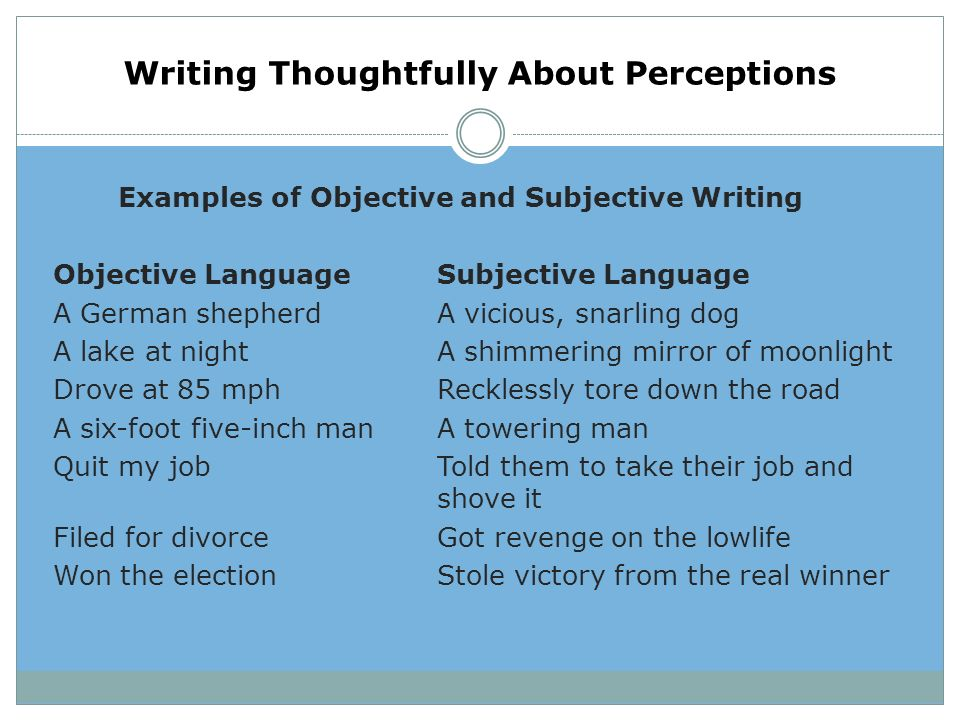 "objective writing definition Whether you need to explain what ""love"" or ""hate"" is, write a definition essay to provide all possible meanings and examples of the words you or your teachers choose."