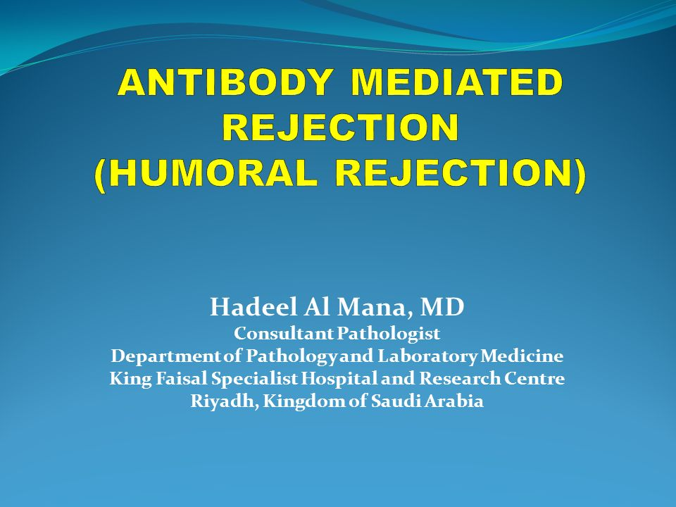 Antibody Mediated Rejection Humoral Rejection Ppt Video