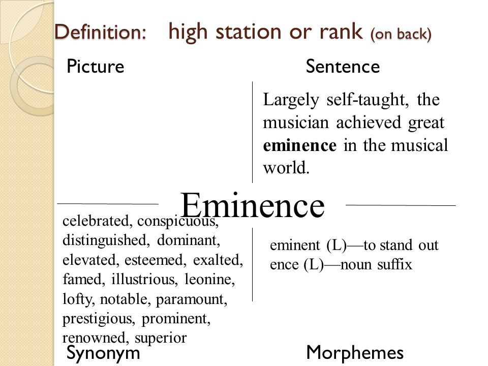 Eminence. 11 Definition: ...