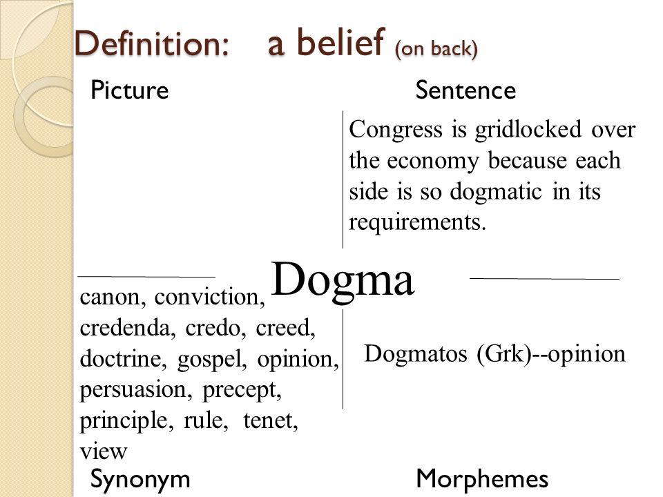Attractive Dogma. 21 Definition: ...