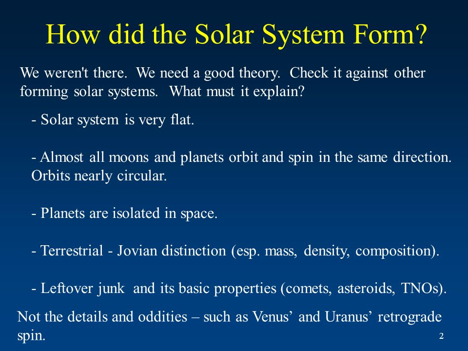 Formation of the Solar System and Extrasolar Planets - ppt ...