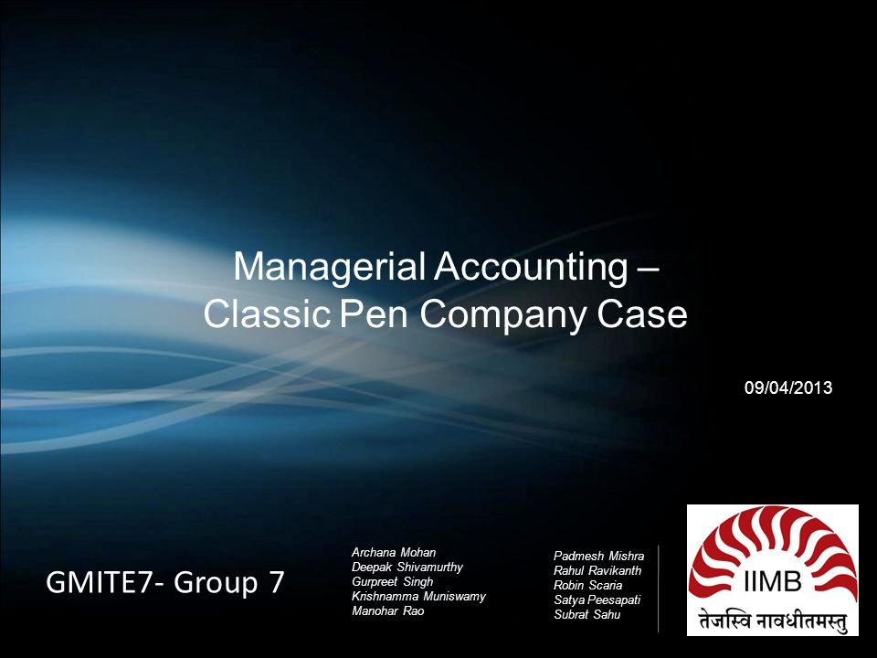 Classic Pen Company, The: Developing an ABC Model