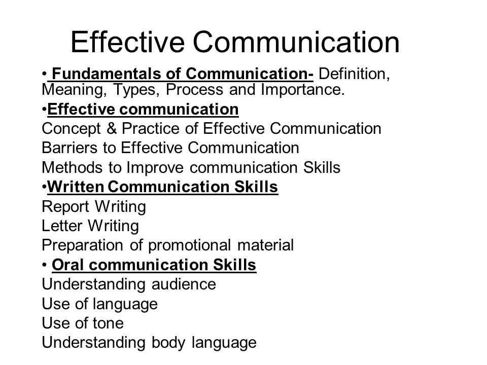 Essay on importance of effective communication Coursework