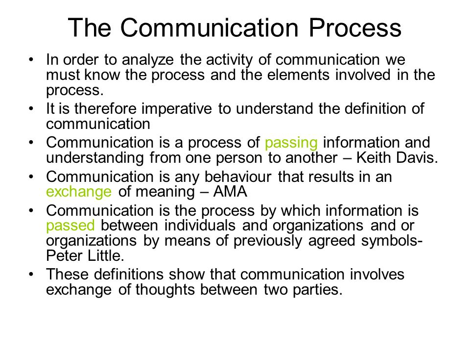 defination for communication