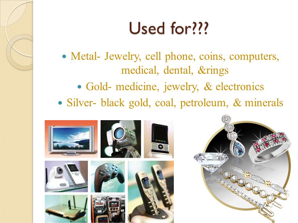 Uses For Gold Electronic : Nonrenewable resources ppt download