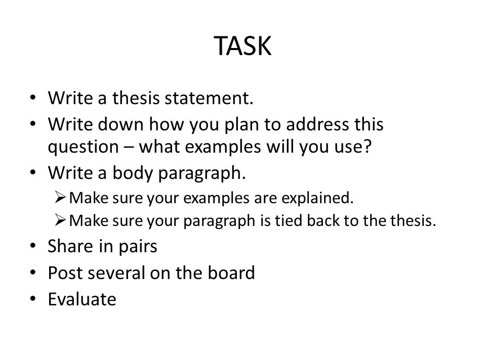 How Write A Thesis Statement For A Research Paper