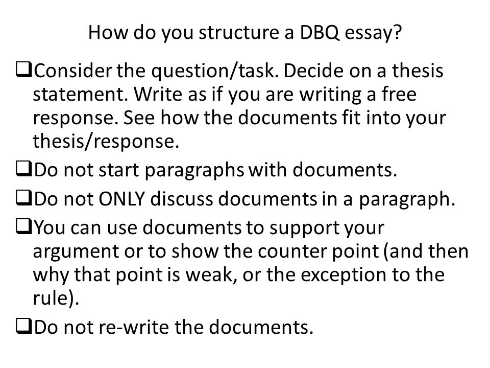 dbq essay essay