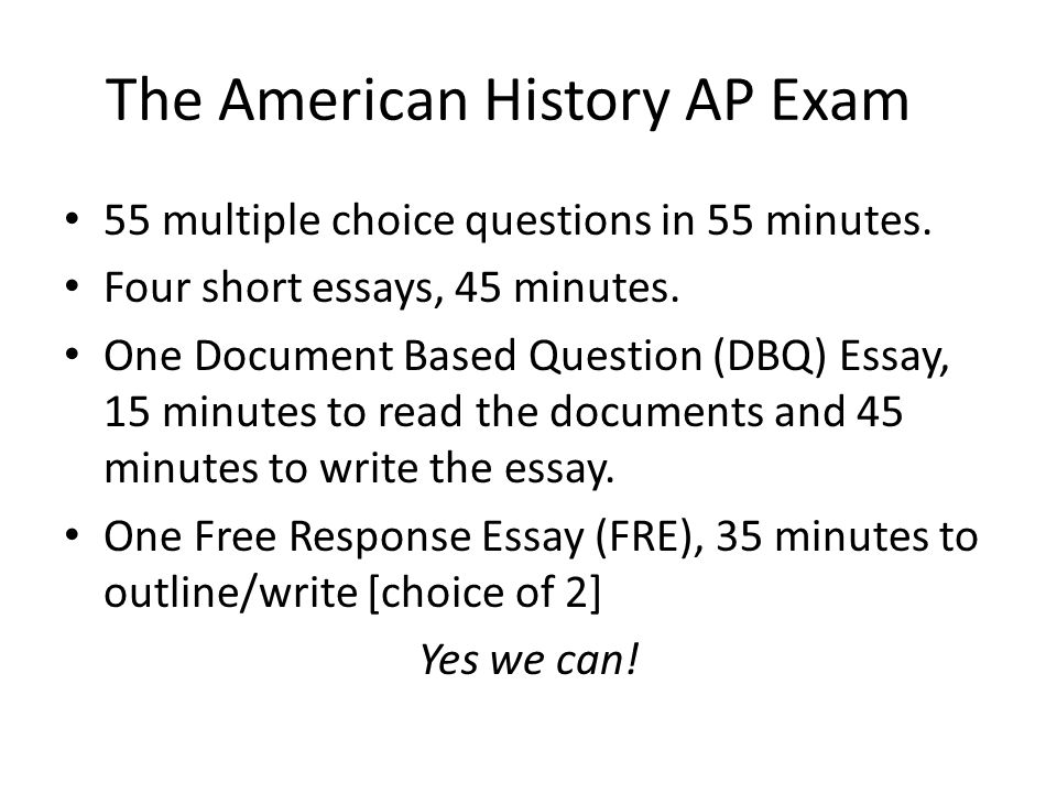 essay writing response and dbq ppt video online  the american history ap exam