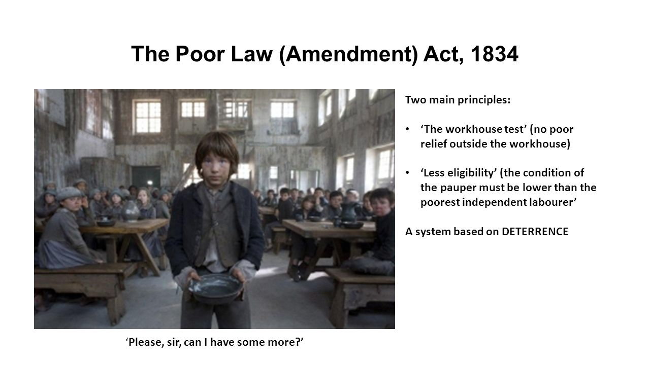 1834 poor law amendment act These are the sources and citations used to research poor law amendment act 1834 this bibliography was generated on cite this for me on monday, april 13, 2015.