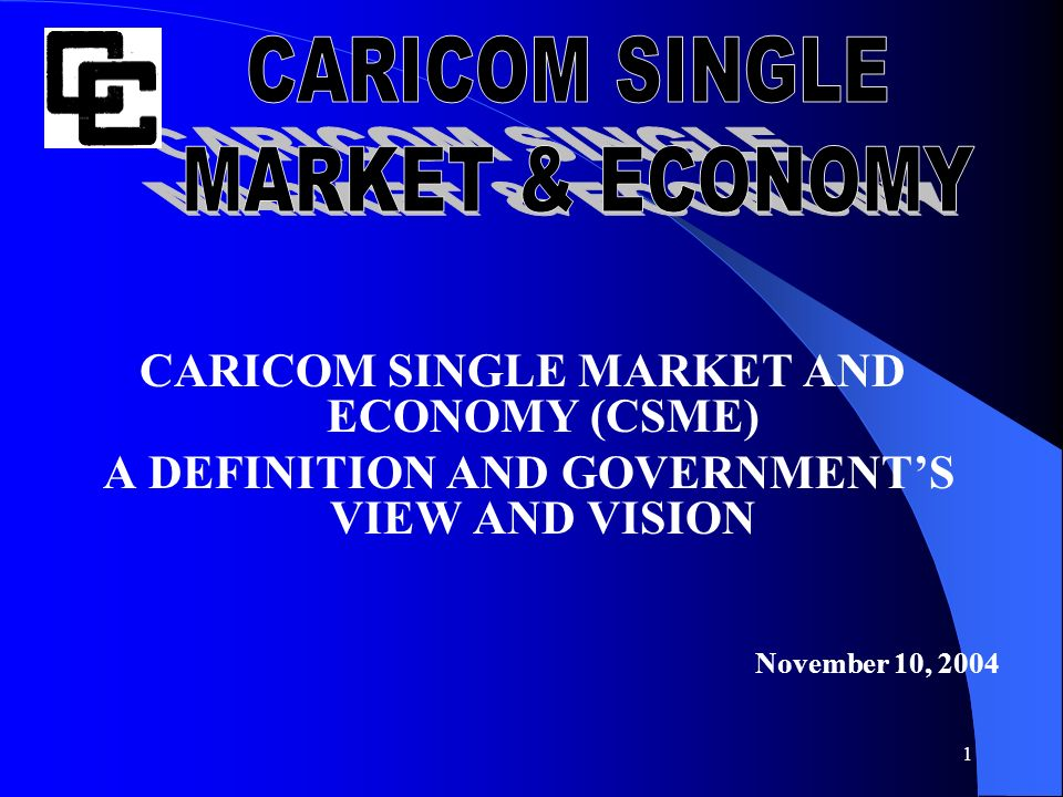 Caricom Single Market Economy Ppt Video Online Download