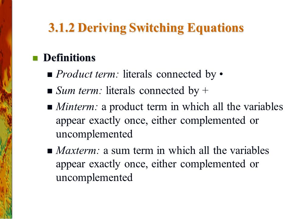 3.1.2 Deriving Switching Equations
