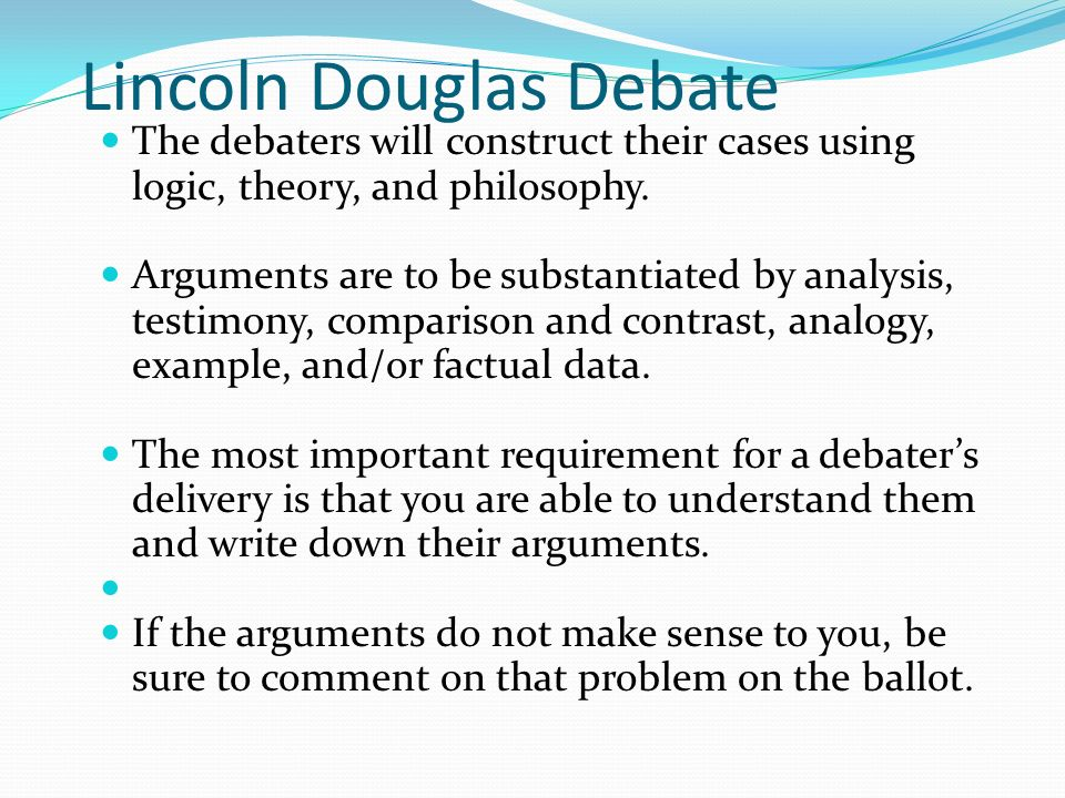 a comparison of lincoln and douglas First article focuses on the famous lincoln-douglas debates of 1858, which helped  lincoln stands during one of the seven lincoln-douglas debates douglas.