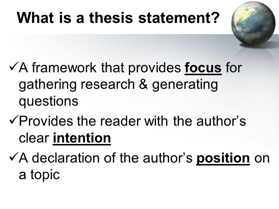 what is thesis declaration