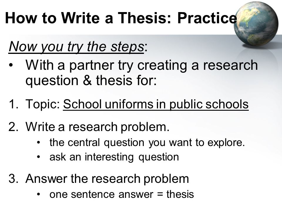 explain what a thesis is in your own words English composition 1  you might use paraphrases and summarizes to put the writer's ideas into your own words,  in other words, the writer needs to explain.