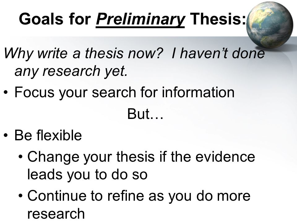 how should i write my thesis statement