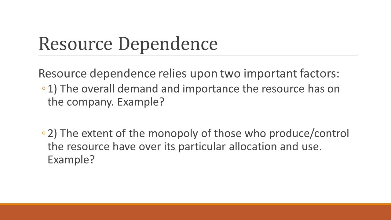 resource dependence The external control of organizations: a resource dependence perspective (stanford business classics) [jeffrey pfeffer, gerald r salancik] on amazoncom free.