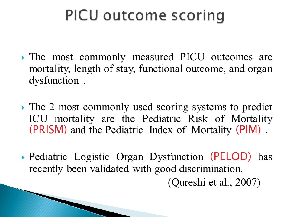 Picu Performance And Outcome Scores Prof Dr Reda Sanad