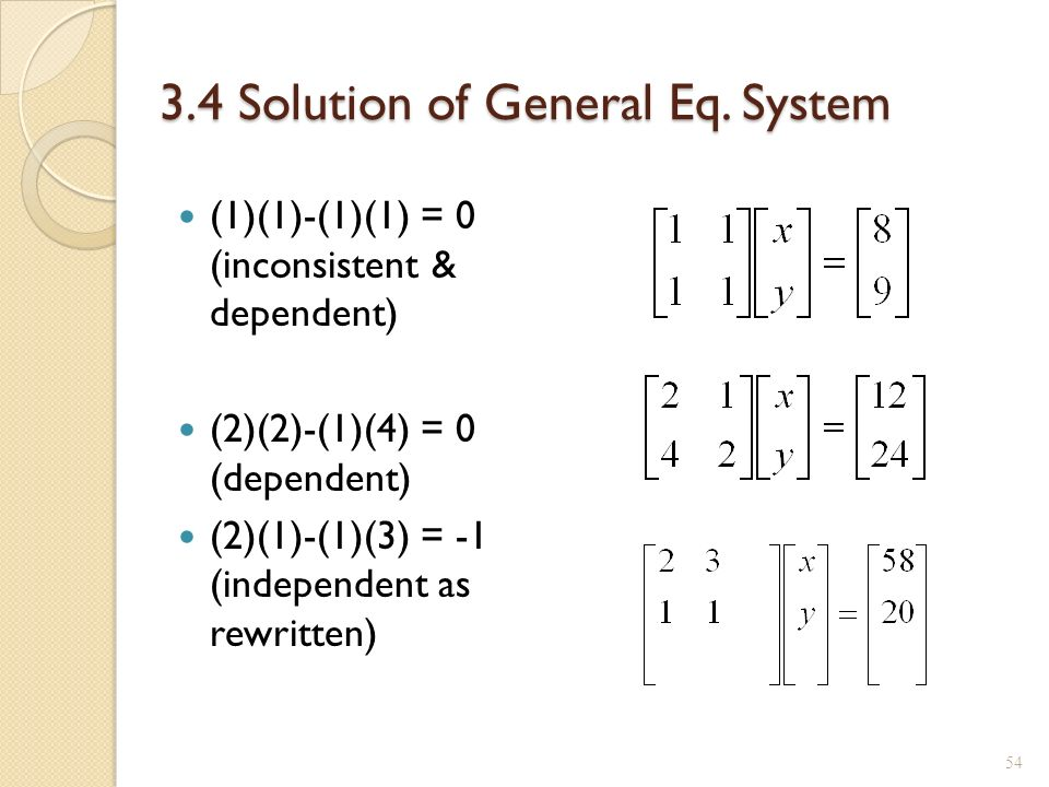 how to find general solution of a matrix