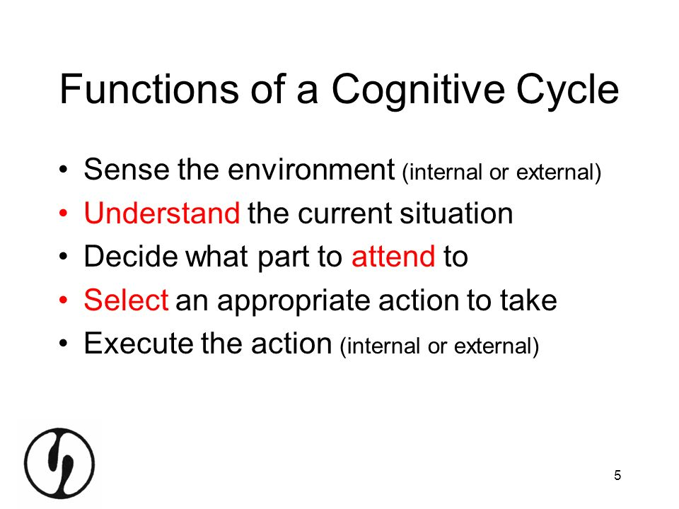 Functions of a Cognitive Cycle