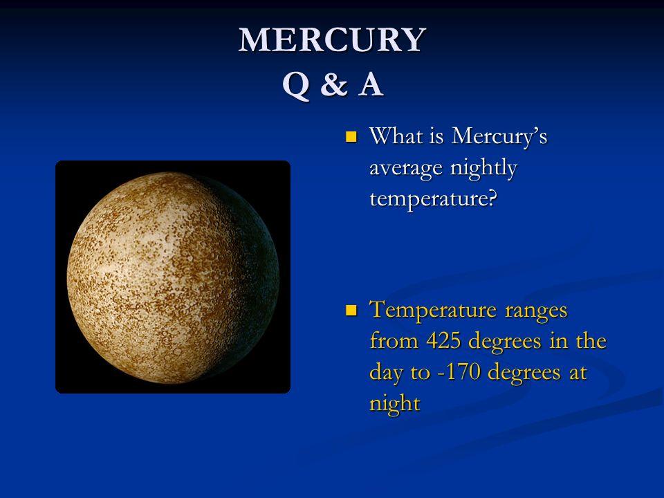 Mercury planet surface temperature