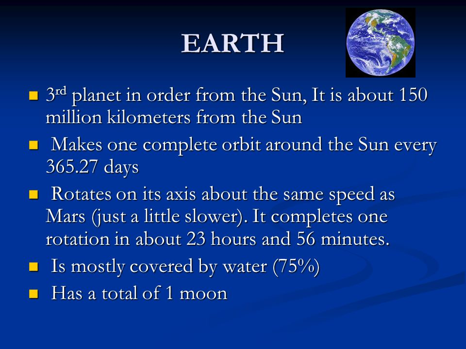 THE PLANETS OF OUR SOLAR SYSTEM - ppt download