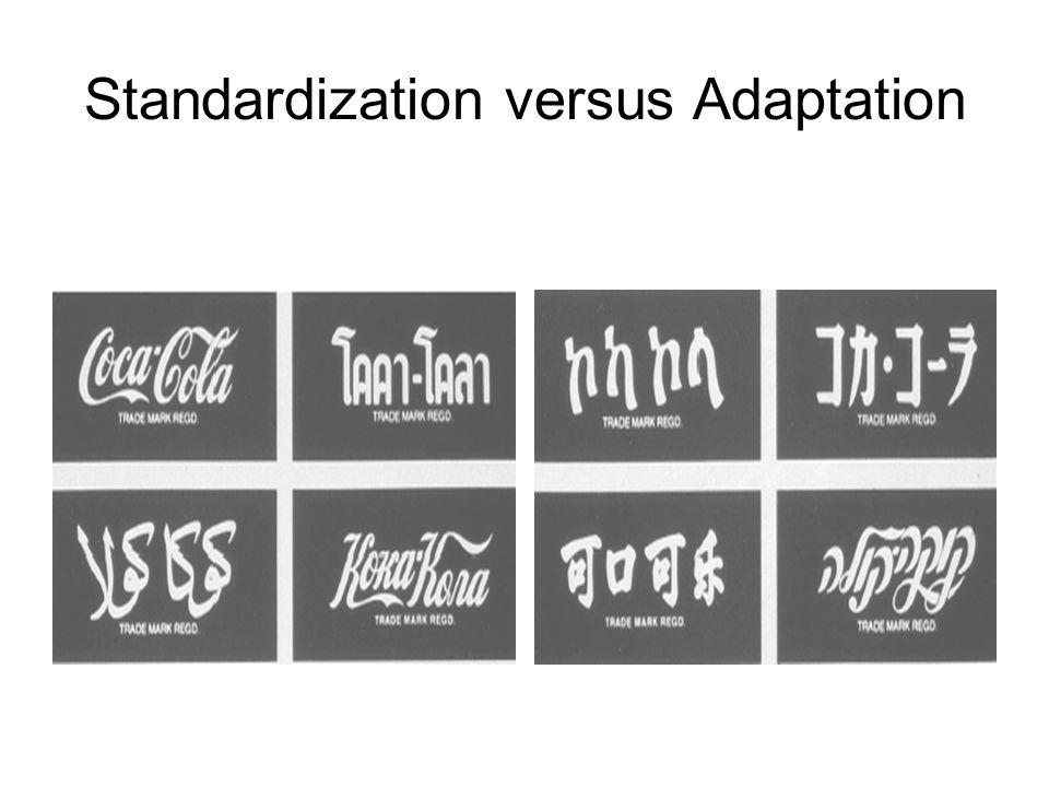 analysis of standardization verses adaptation World, the choices of standardization versus adaptation of international products  are no  431 analysis of the extent of adaptation and standardization.