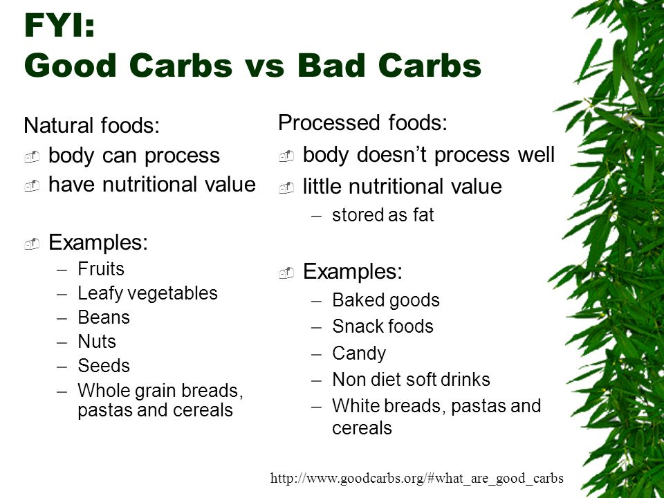 good carbs vs bad carbs pdf
