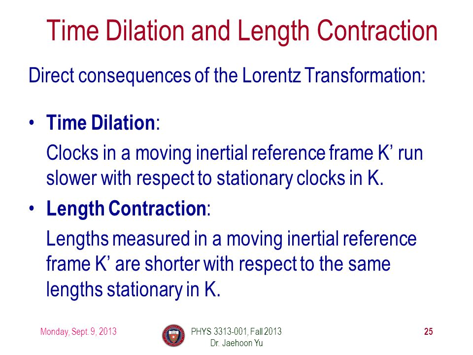 """time dilation and length contraction Length contraction is a symptom of """"tilted now planes""""  so, time dilation, length  contraction, and the rearrangement of events are just three."""