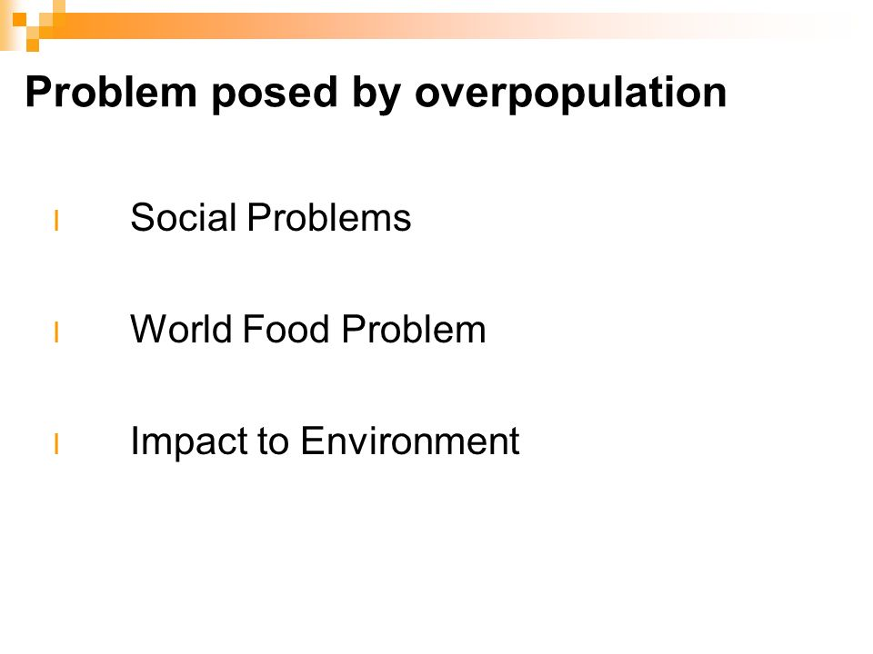 How Overpopulation Causes Social Problems Paper