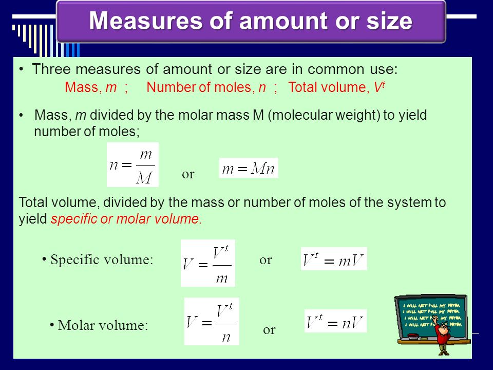 Measures of amount or size