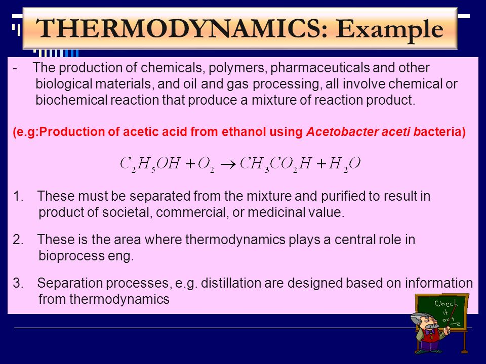 THERMODYNAMICS: Example