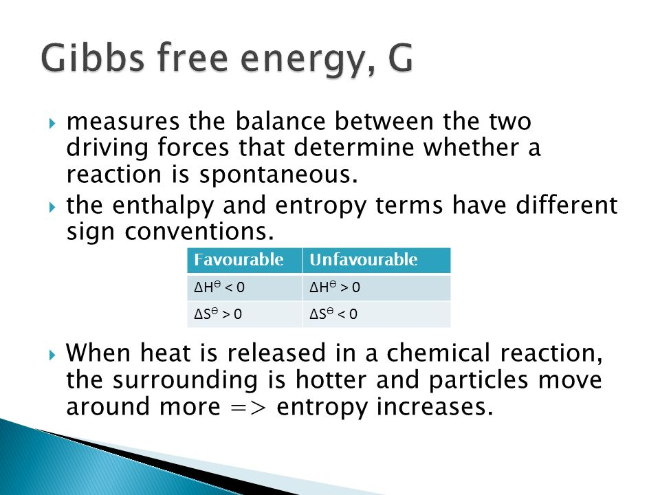 enthalpy entropy and gibbs free energy relationship