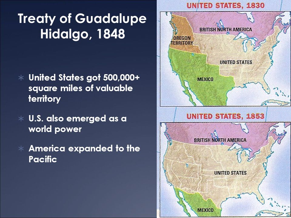 MexicanAmerican War Ppt Download - Guadalupe hidalgo on us map