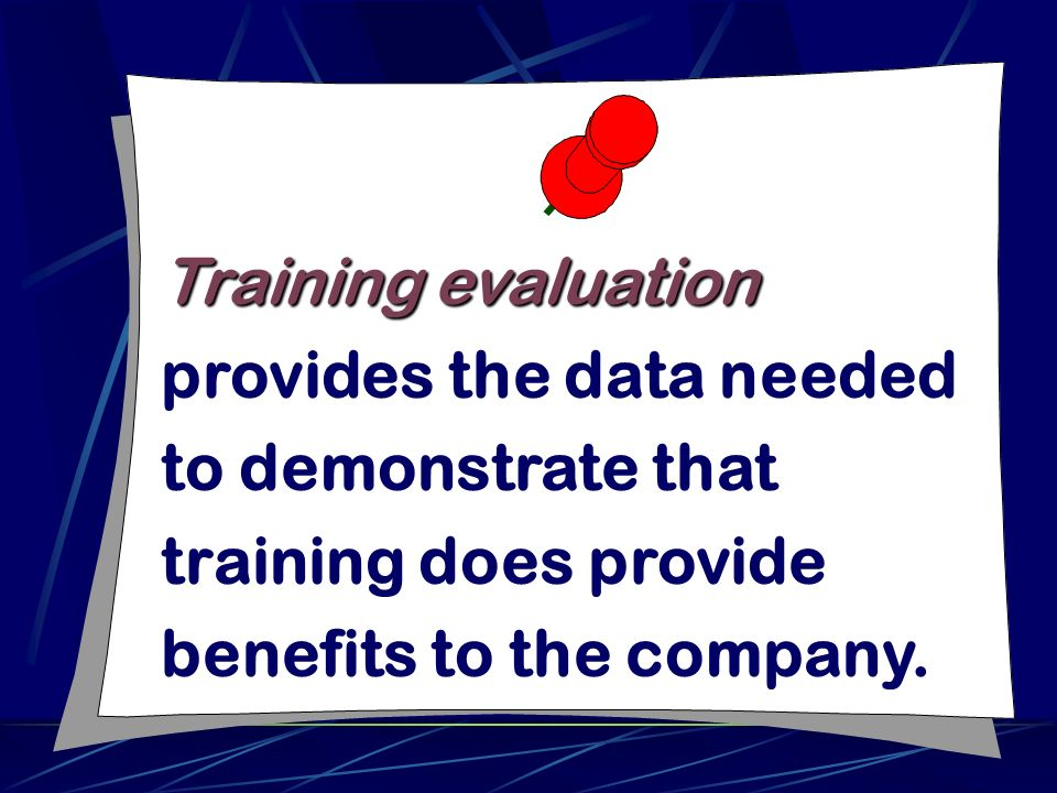 Training Evaluation  Ppt Download