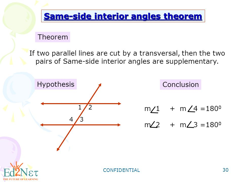30 Same Side Interior Angles Theorem