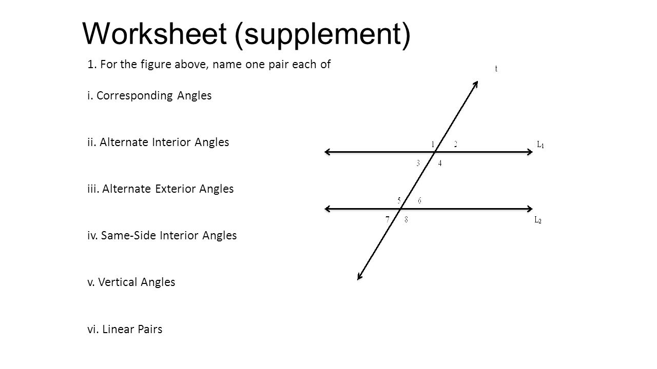 Alternate Interior Angles Worksheet Worksheets for all | Download ...