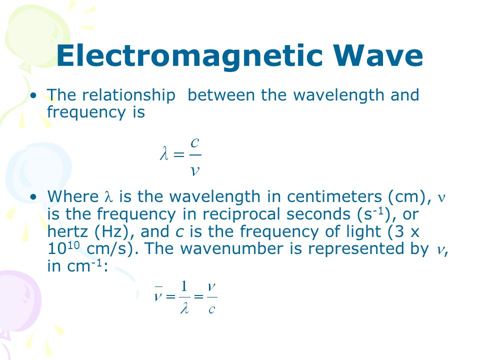 electromagnetic wave frequency and wavelength relationship