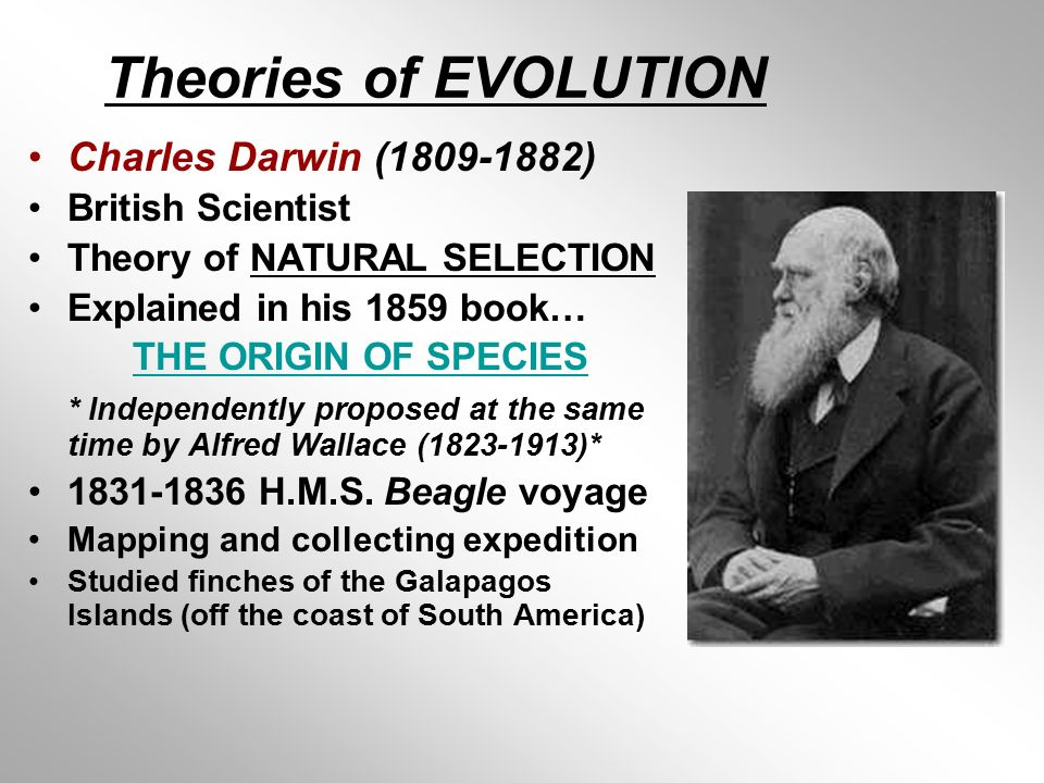 life of charles darwin and his theory of evolution