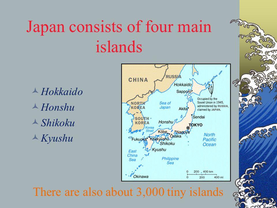 Japan Land Of The Rising Sun Ppt Download - Japan map four main islands