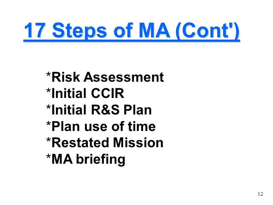Military Decision-Making Process - ppt download
