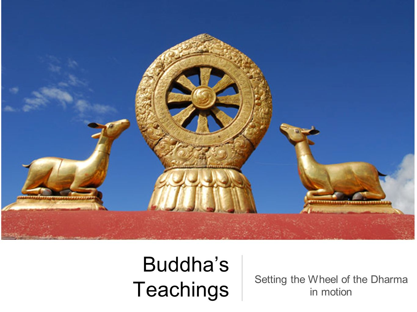 Setting the Wheel of the Dharma in motion