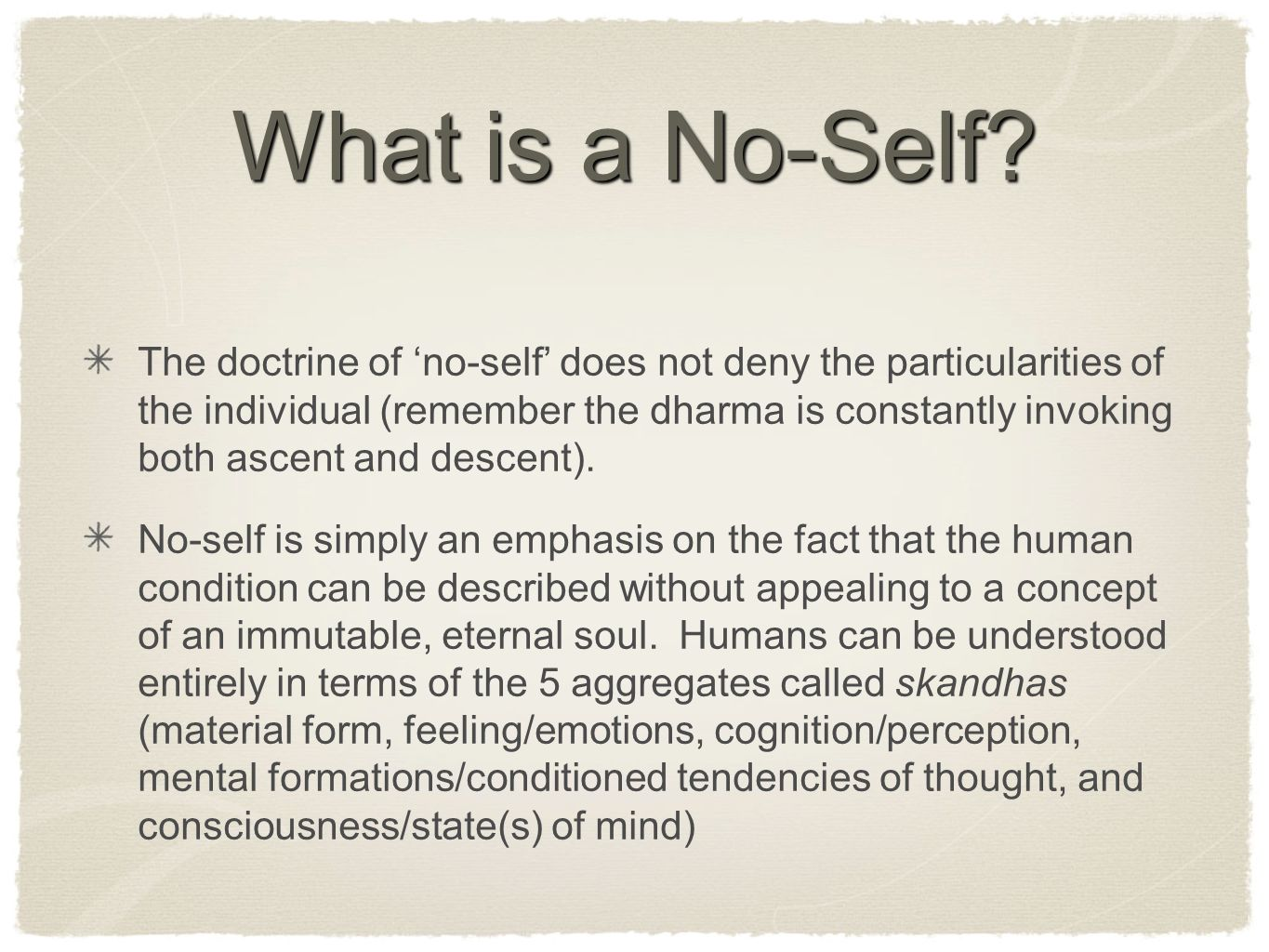What is a No-Self