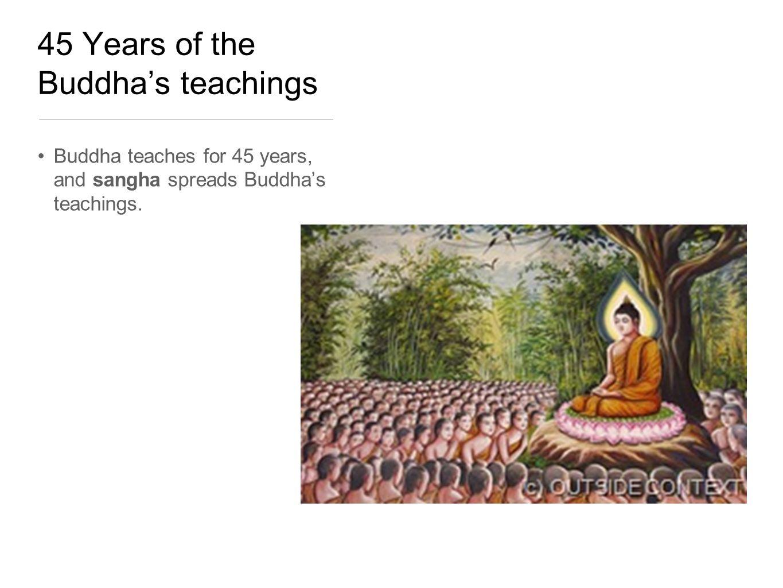 45 Years of the Buddha's teachings