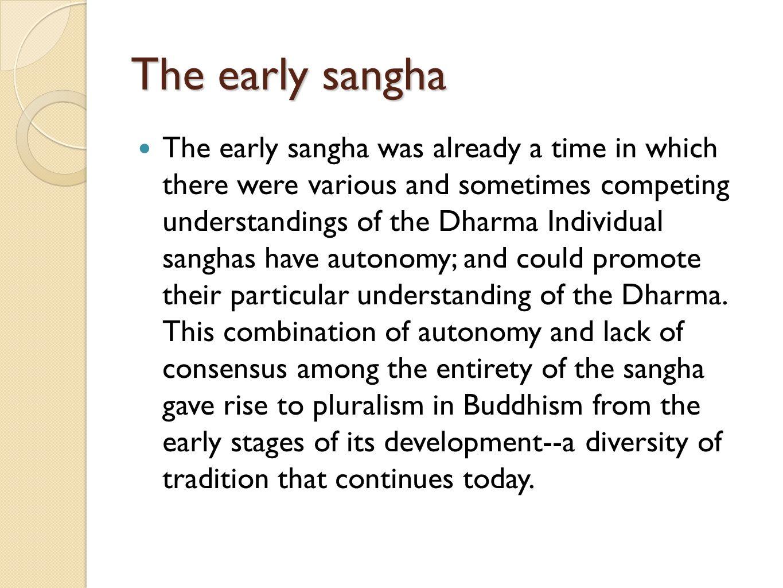 The early sangha