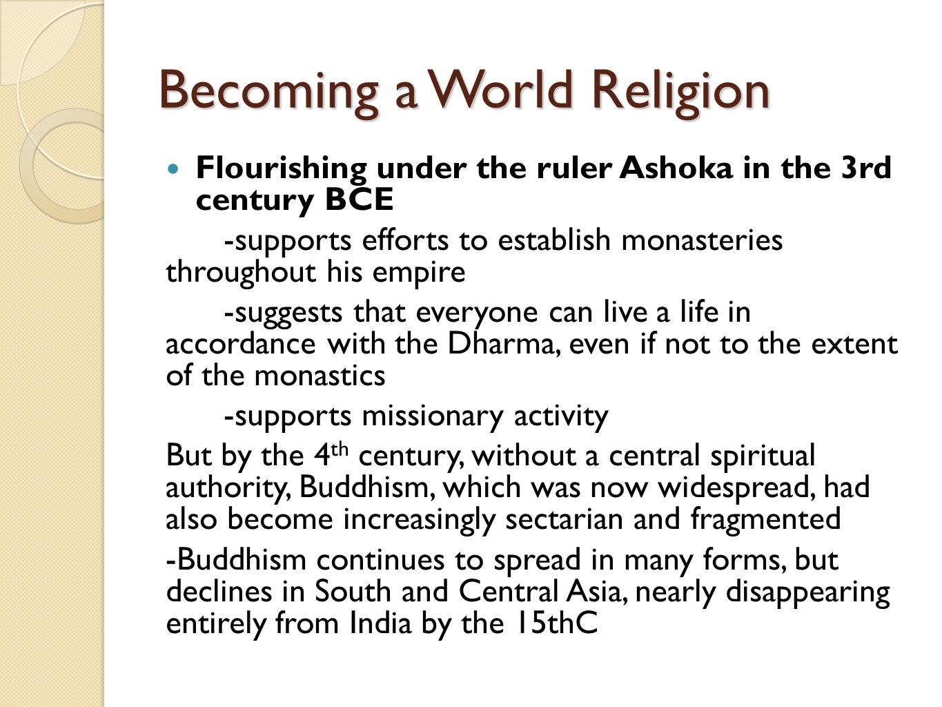 Becoming a World Religion