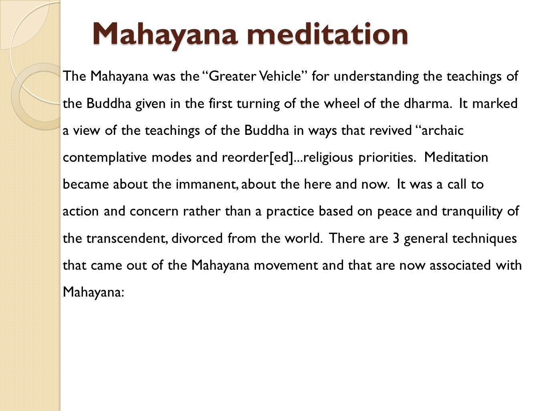 Mahayana meditation