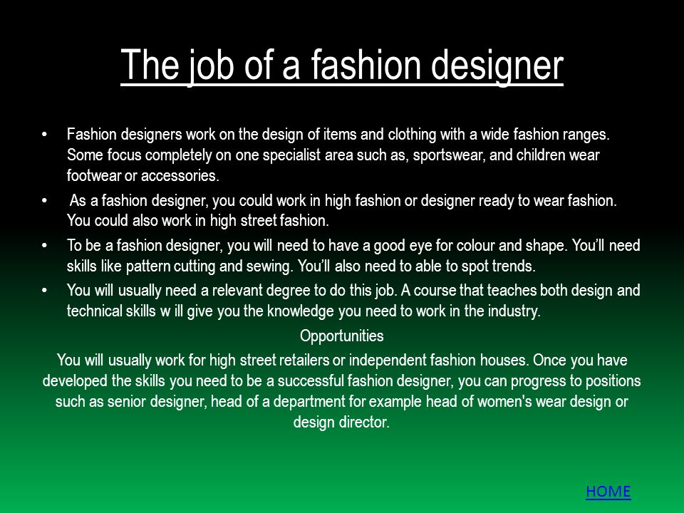 Work From Home Fashion Design Jobs - Home Design Ideas